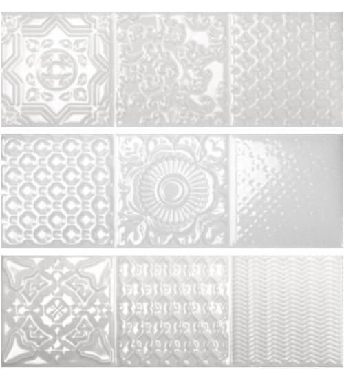 Плитка Esencia Relieve Blanco Brilo 10*30 (0.75 м2 в уп)