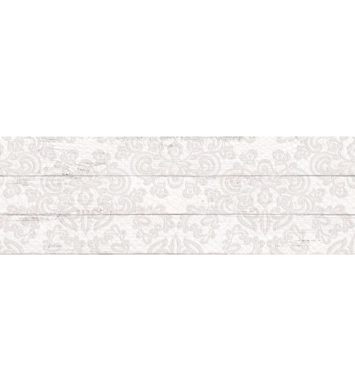 (1064-0097) Плитка настенная ШЕББИ ШИК декор 20х60 белый