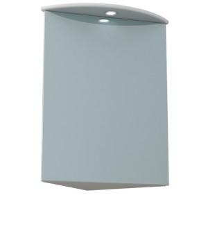 (ЯМ) Шкаф-зеркало Гладиолус 45С белый