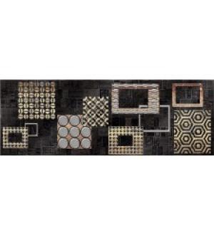 Декор Commesso Nero Geometria  251*709