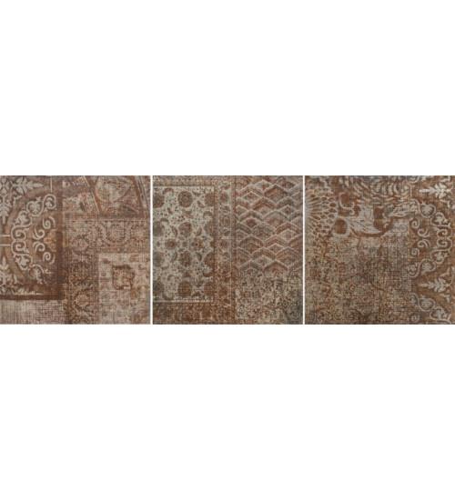 (6046-0201) FERRUM LOFT керамогранит гл. декор бежевый 45х45