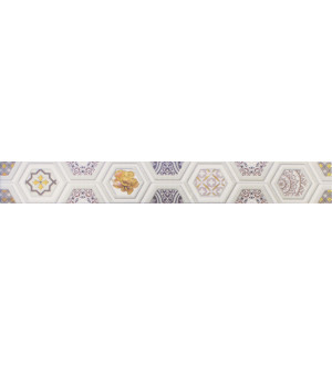 Бордюр настенный Unicer Glam Gio Marfil 7,5x58