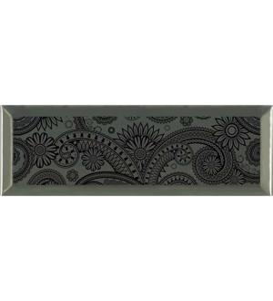Decor Ornamental Silver Negro 10*30
