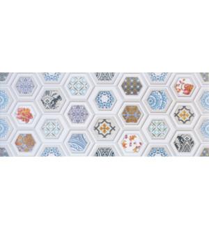 Декор настенный Unicer Glam Gio 1 Blanco 23,5x58