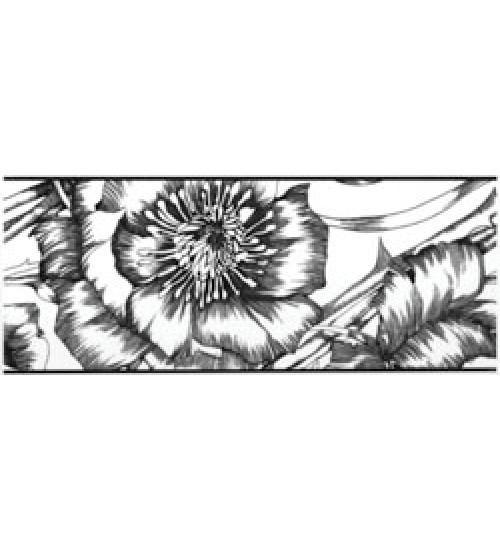 (15010051) Азур Фриз цветы белый 10х25