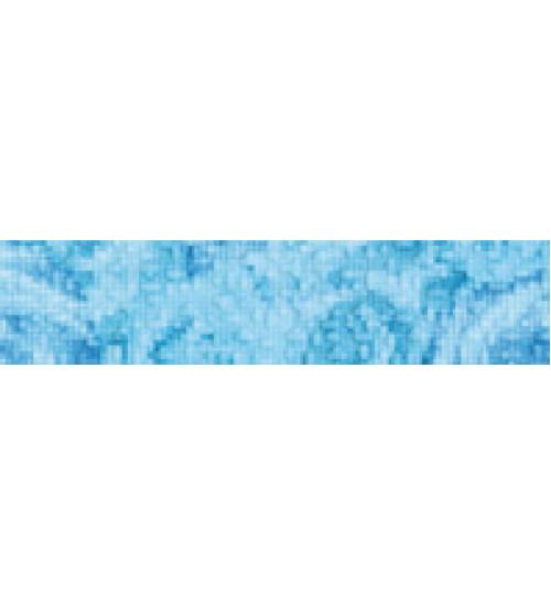 (15020532) Фьюжн бордюр 2 голуб горизонтальный9*40