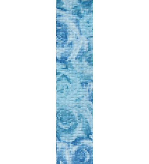 (15040077) Фьюжн бордюр 1 голубой вертик 9*40