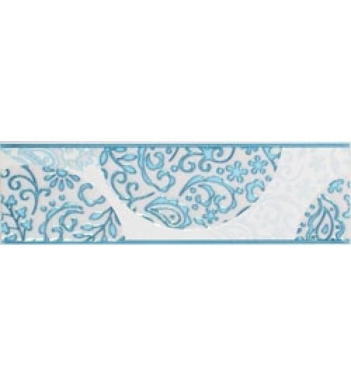(15070002) Аврора бордюр синий 7,5*25