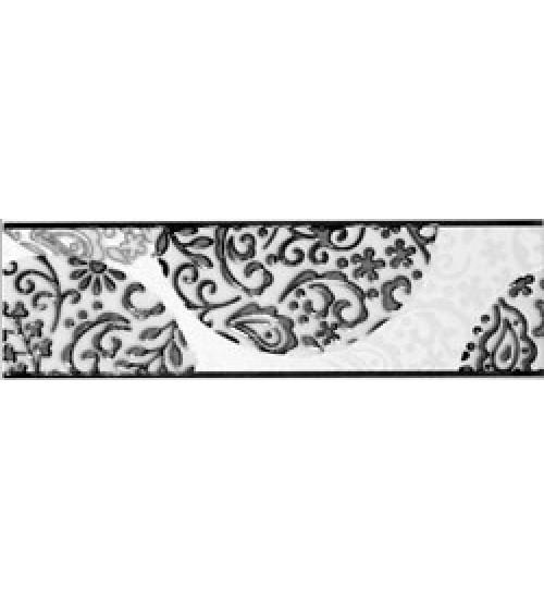 (15070005) Аврора бордюр черный 7,5*25