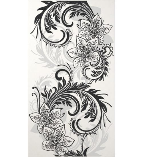 (16450046) Азур Крем декор белый 25х45