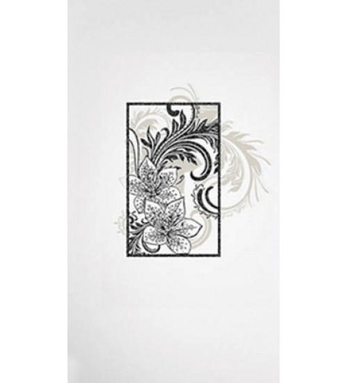(16450047) Азур Соло декор белый 25х45