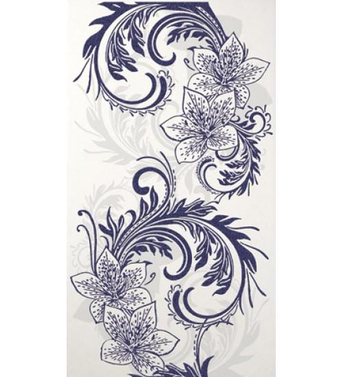 (16450057) Азур Крем декор синий 25х45