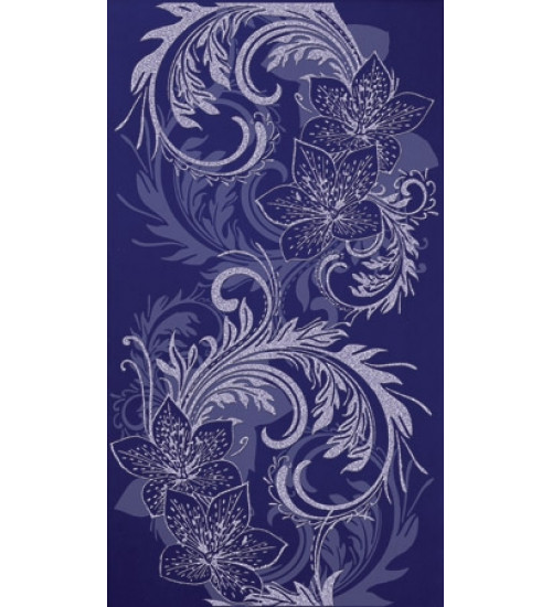(16450059) Азур декор синий 25х45