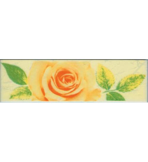 (220834) Квазар Бордюр 20*5,6 желтый 4 розы