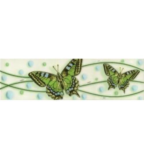 (221121) Ниагара Бордюр 20*5,5 зеленый бабочки