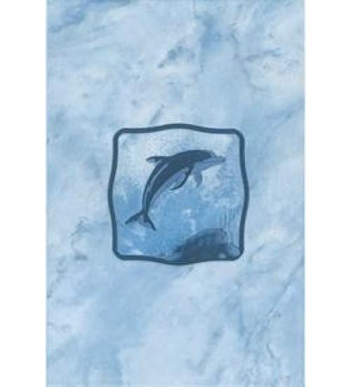 (310712) Орион Декор 20*30 синий один дельфин