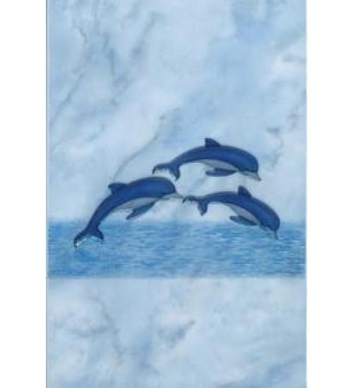 (310712/2) Орион Декор 20*30 синий три дельфина