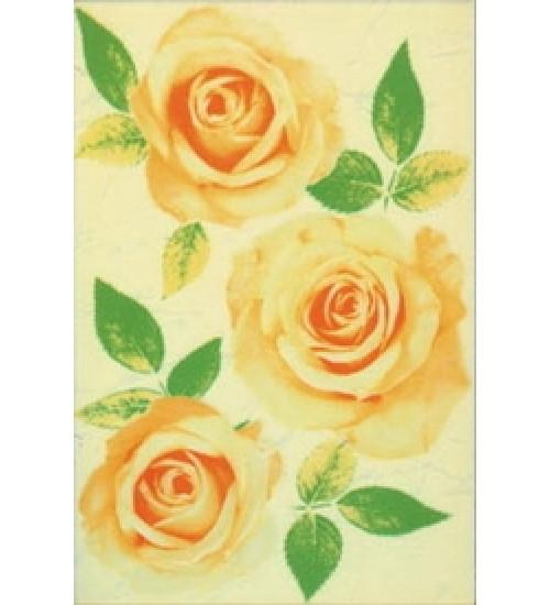 (310834) Квазар Декор 20*30 желтый 4 розы