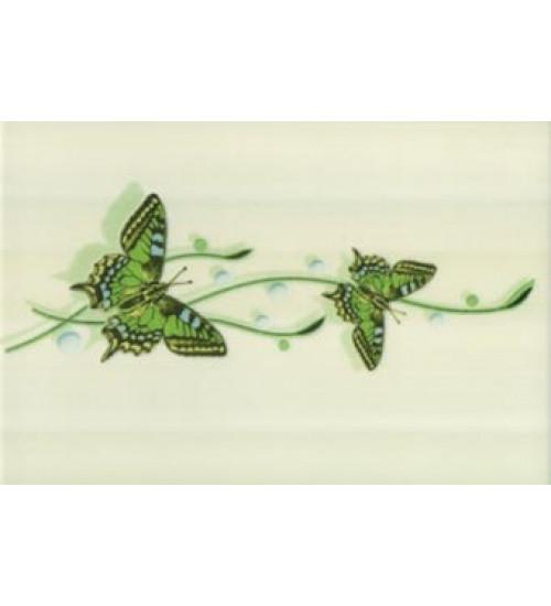 (311121) Ниагара Декор 20*30 зеленый бабочки