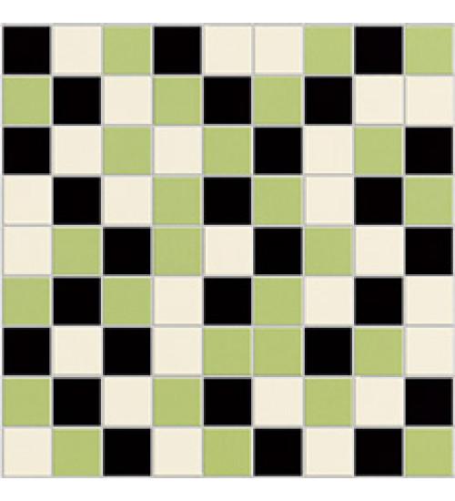 (3132-0050) ГОТЛАНД мозаика черно-бело-зеленая