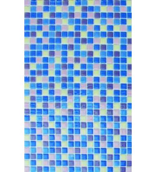 (340011) Моноколор Декор 25*40 мозаика син