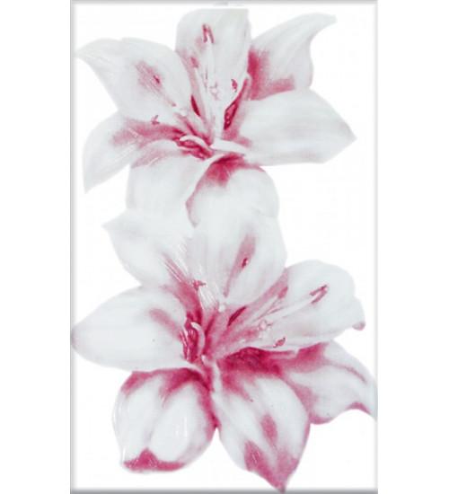 (340042) Моноколор Декор 25*40 розовый Лилии