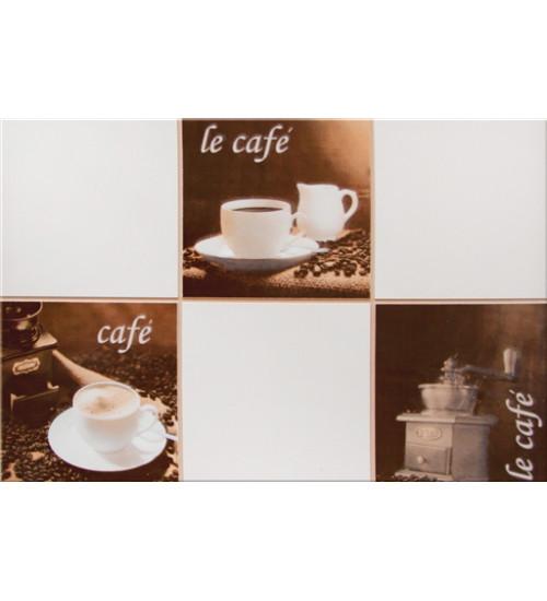 (340063) Моноколор Декор Кофейня 25*40 le cafe
