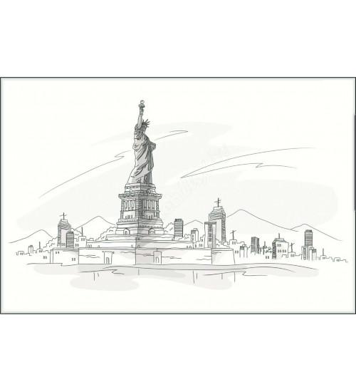 (371508/1) Моноколор Декор 25*40 Нью-Йорк