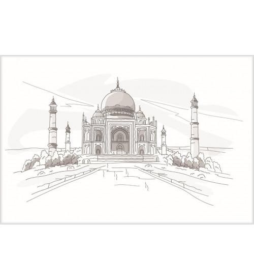(371508/2) Моноколор Декор 25*40 Агра Тадж-Махал