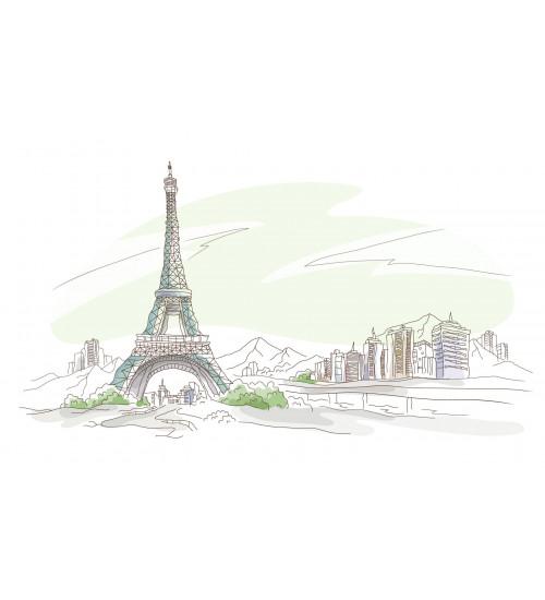 (371508/4) Моноколор Декор 25*40 Париж