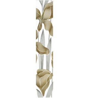 Бордюр Iris  40*7 белый вертик (30061)