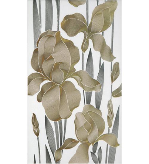 Декор Iris  23*40 белый (30061)