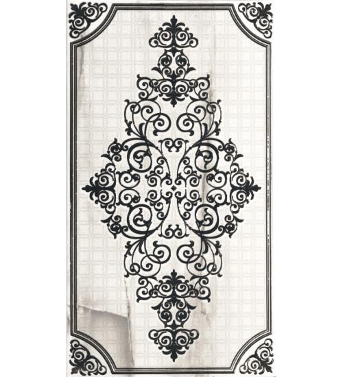 (1645-0087) 25*45 Декор Астерия орнамент белый