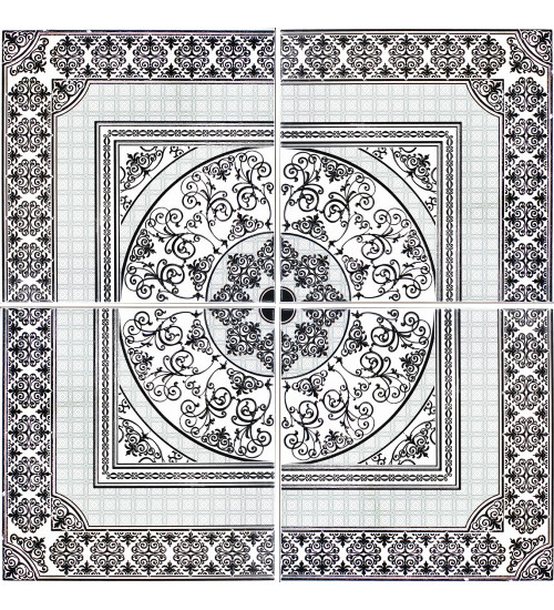 (3609-0003-1004) 90*90 Панно Астерия (комп 4шт) белый